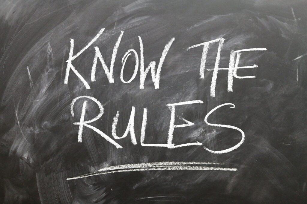 napis nowe zasady