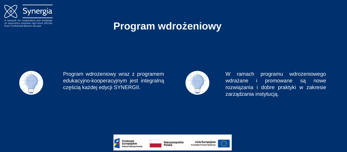Slajd Program wdrożeniowy